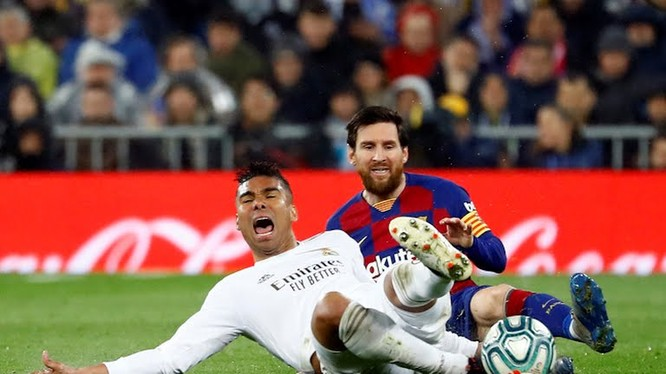 Kể từ khi Cristiano Ronaldo ra đi vào mùa hè 2018 Leo lâm vào tình trạng tịt ngòi trong các trận siêu kinh điển. Ảnh CNN