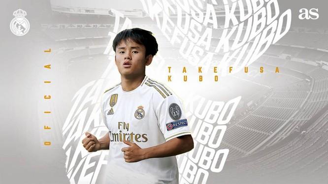 Cầu thủ thuộc biên chế Real Madrid Takefusa Kubo (2001) đang có mùa giải để lại dấu ấn ngoài mong đợi. Ảnh CLB RM.