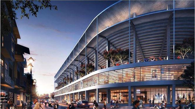 Tổ hợp sân vận động Hàng Đẫy trong tương lai. Ảnh HNFC.