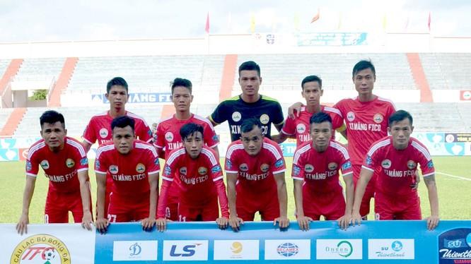 Hồng Lĩnh Hà Tĩnh sẽ diễn lại màn tái đấu với Fico Tây Ninh tại hạng Nhất năm ngoái. Ảnh HLHT