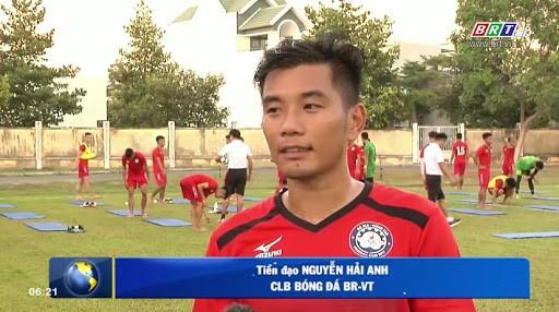 Cầu thủ quan trọng nhất của BR Vũng Tàu chính là tiền đạo đội trưởng Nguyễn Hải Anh sinh năm 1987. Ảnh BRVT.