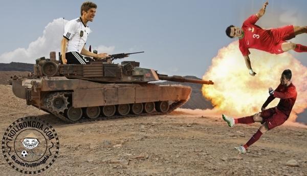 """""""Cỗ xe tăng Đức"""" đã chuyển động trở lại để khẳng định tên tuổi. Ảnh Troll"""