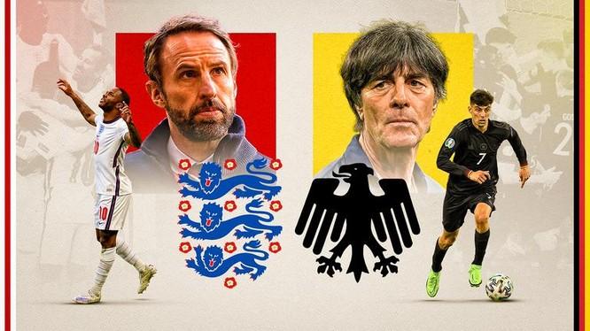 Cuộc chiến đầy duyên nợ bóng đá Anh-Đức. Ảnh Getty