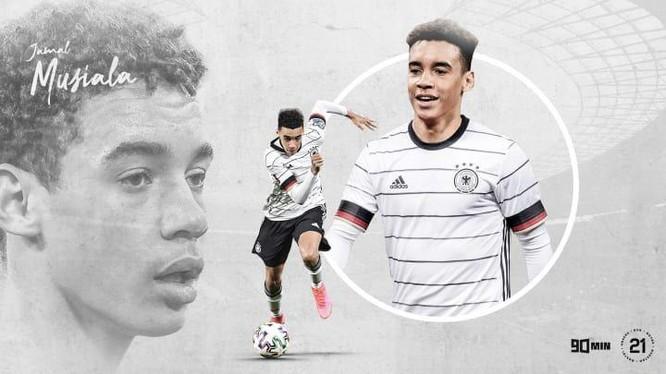 Thần đồng bóng đá Đức Musiala 18 tuổi. Ảnh DW