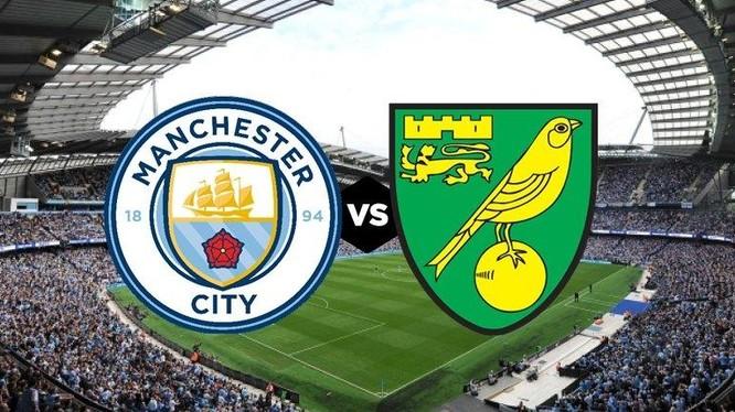Chủ nhà Man City đã có cơn mưa bàn thắng 5-0 vào lưới Norwich. Ảnh AP