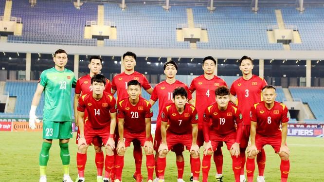 Đội tuyển chủ nhà Việt Nam được Sofascore chấm trung bình 6,61 điểm. Ảnh VFF.