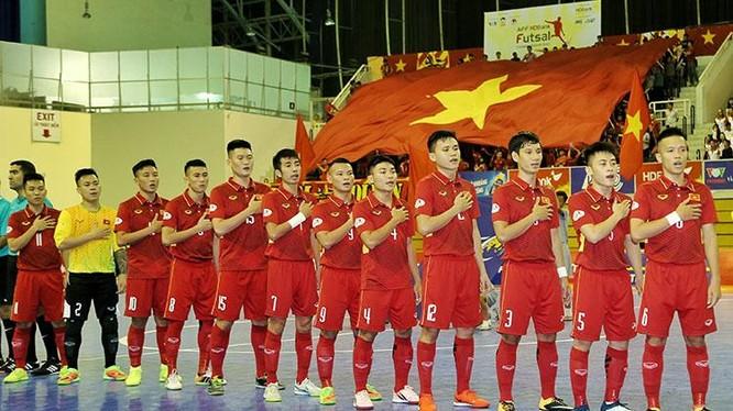 Lần thứ 2 Đội tuyển futsal Việt Nam tranh tài tại World Cup Futsal. Ảnh VFF.