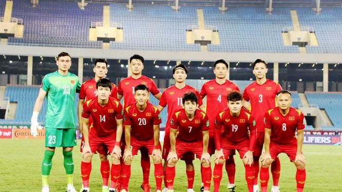ĐT Việt Nam đứng thứ 95 BXH. Ảnh VFF.