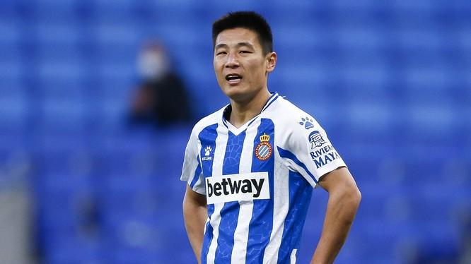 Vòng loại thứ 2 World Cup 2022 khu vực châu Á, Wu Lei đã ghi đến 8 bàn cho tuyển Trung Quốc. Ảnh AP