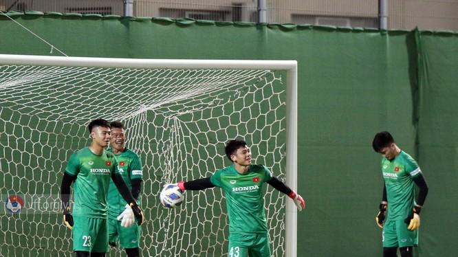 Các thủ môn của đội tuyển Việt Nam. Ảnh VFF.