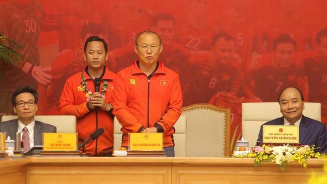Ông Park, người bạn của bóng đá Việt. Ảnh VFF