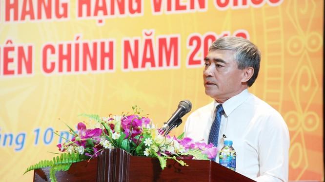 Thứ trưởng Bộ TTTT Nguyễn Minh Hồng, Chủ tịch Hội đồng thi phát biểu tại Lễ khai mạc
