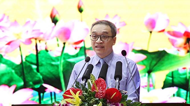 Thứ trưởng Bộ TT&TT Phan Tâm phát biểu tại Hội nghị