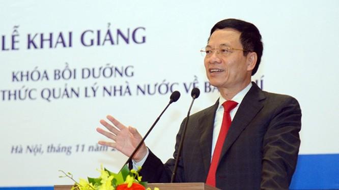 Bộ trưởng Bộ TT&TT Nguyễn Mạnh Hùng phát biểu tại Lễ khai giảng