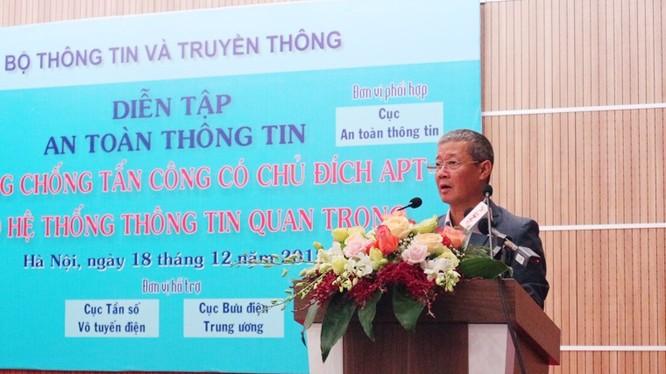 Thứ trưởng Nguyễn Thành Hưng phát biểu khai mạc chương trình Diễn tập