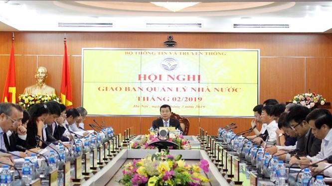 Bộ trưởng Nguyễn Mạnh Hùng phát biểu chỉ đạo tại Hội nghị.