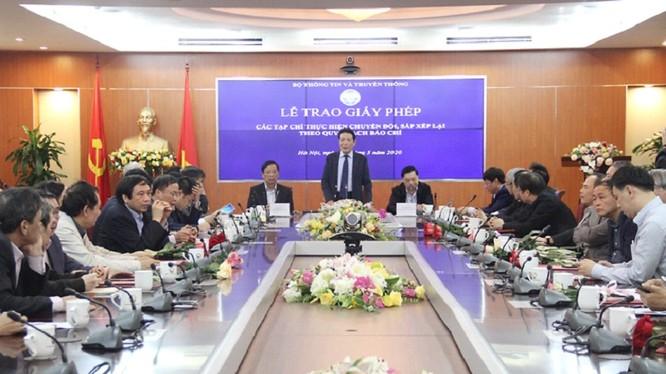 Thứ trưởng Hoàng Vĩnh Bảo phát biểu tại buổi Lễ.