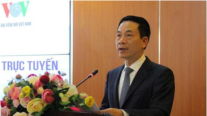 Bộ trưởng Nguyễn Mạnh Hùng phát biểu tại buổi lễ