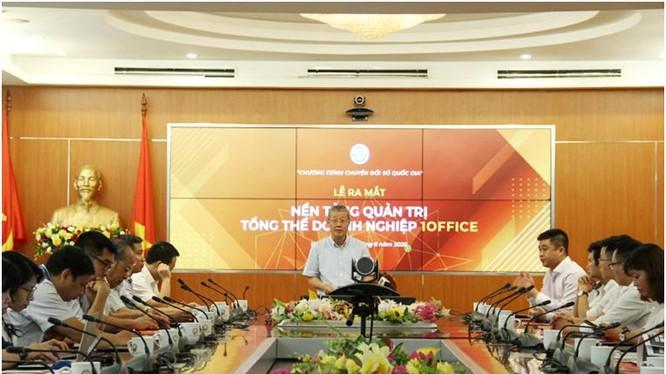 Thứ trưởng Bộ TT&TT Nguyễn Thành Hưng phát biểu tại buổi lễ. Ảnh: MIC
