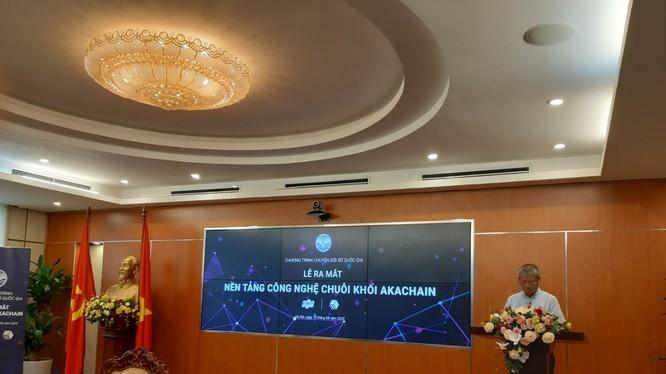 Thứ trưởng Bộ TT&TT Nguyễn Thành Hưng phát biểu tại buổi lễ. Ảnh: AT