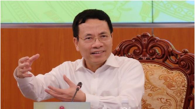 Bộ trưởng Nguyễn Mạnh Hùng phát biểu tại Hội nghị. Ảnh MIC.