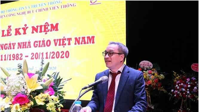 Thứ trưởng Phan Tâm phát biểu tại buổi lễ. Ảnh MIC