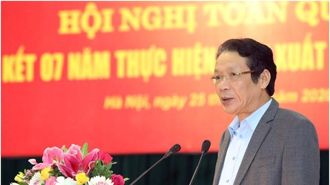 Thứ trưởng Hoàng Vĩnh Bảo phát biểu tại Hội nghị. Ảnh MIC