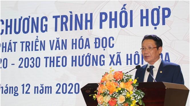 Thứ trưởng Hoàng Vĩnh Bảo phát biểu tại buổi lễ. Ảnh MIC