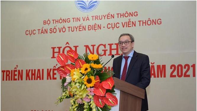 Thứ trưởng Phan Tâm phát biểu tại Hội nghị. Ảnh MIC