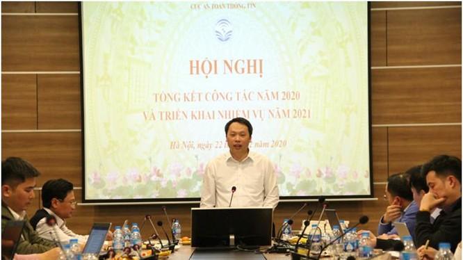 Thứ trưởng Nguyễn Huy Dũng phát biểu tại Hội nghị. Ảnh MIC