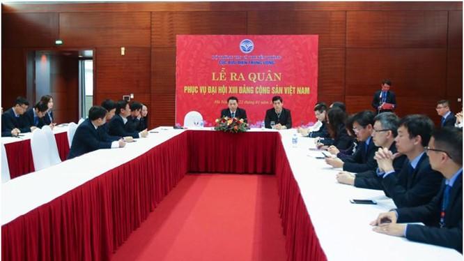 Thứ trưởng Nguyễn Huy Dũng phát biểu tại Lễ ra quân
