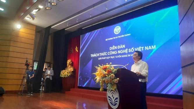 Thứ trưởng Nguyễn Huy Dũng phát biểu tại diễn đàn. Ảnh AT