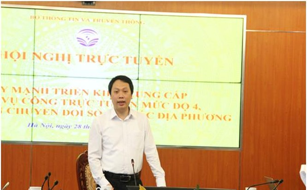 Thứ trưởng Nguyễn Huy Dũng phát biểu tại Hội nghị . Ảnh Mic