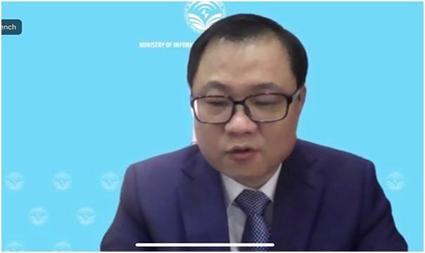 Ông Triệu Minh Long, Vụ trưởng Vụ HTQT phát biểu tại Hội thảo. Ảnh Mic