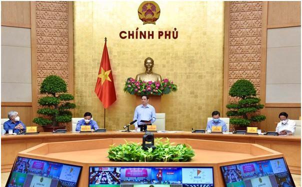 Thủ tướng Chính phủ phát biểu tại cuộc họp của Chính phủ. Ảnh Mic