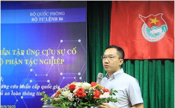 Ông Hoàng Minh Tiến phát biểu tại Hội nghị. Ảnh Mic