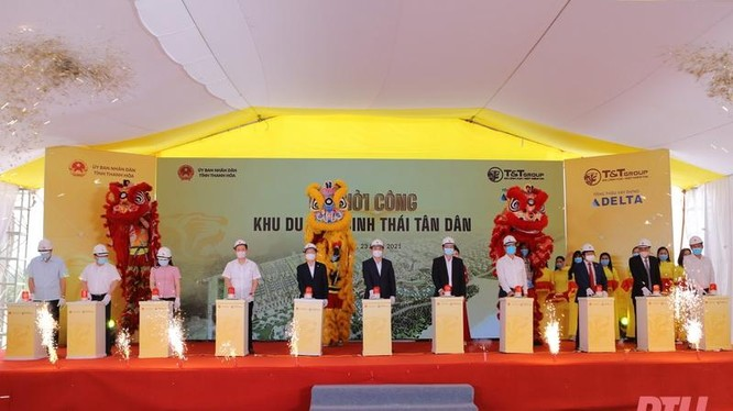 Ấn nút khởi công xây dựng Dự án Khu du lịch sinh thái Tân Dân do T&T đầu tư trên 3,6 ngàn tỉ đồng