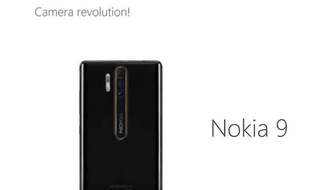 Hình ảnh bộ ba camera trên Nokia 9 (Ảnh: Phone Area)