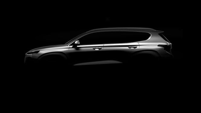 Hình ảnh hé lộ của Hyundai Santa Fe 2019 sẽ được giới thiệu tại triển lãm Geneva 2018
