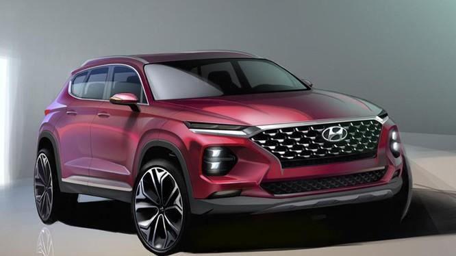 Hình ảnh dựng đầu tiên cho thấy cái nhìn rõ hơn về Hyundai Santa Fe thế hệ mới