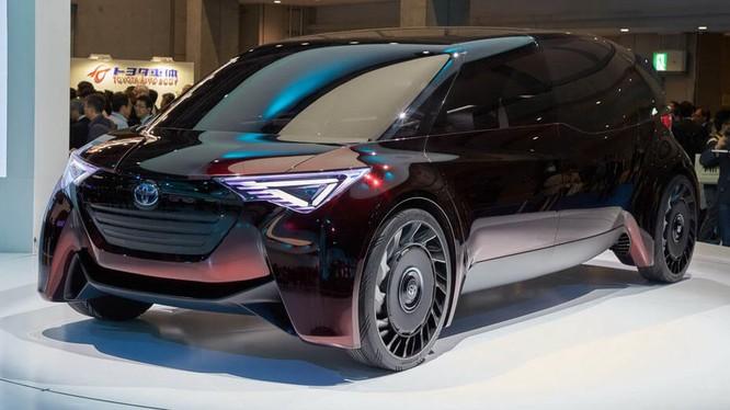 Một chiếc concept của Toyota được phát triển để sử dụng nhiên liệu hydro được trưng bày tại triển lãm Tokyo Motor Show 2017