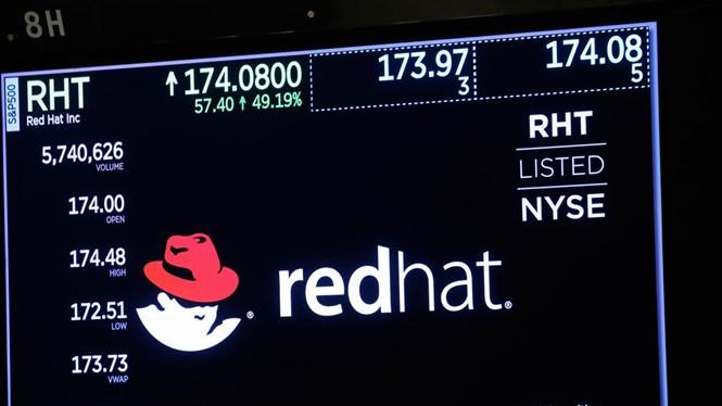Cổ phiếu Red Hat lên giá 45% sau thông tin được IBM thâu tóm. ẢNH: REUTERS