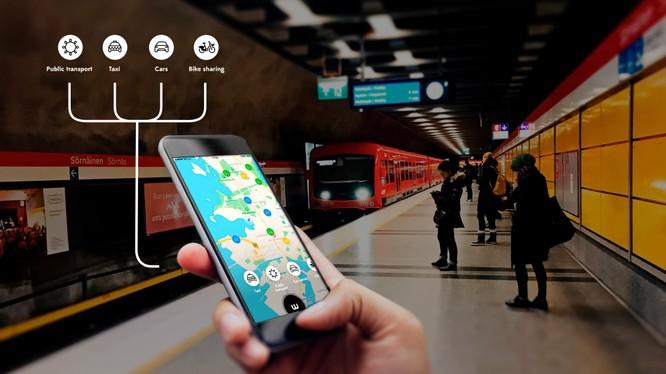 Một nhà ga xe điện ngầm ở Singapore