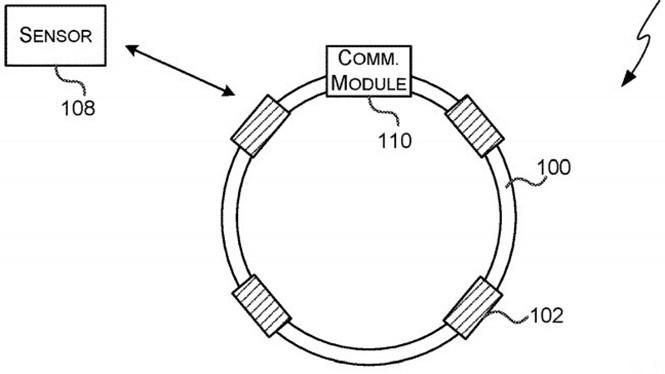 Bằng sáng chế của Microsoft cho thấy thiết bị đeo mà công ty muốn tạo ra. ẢNH: USPTO