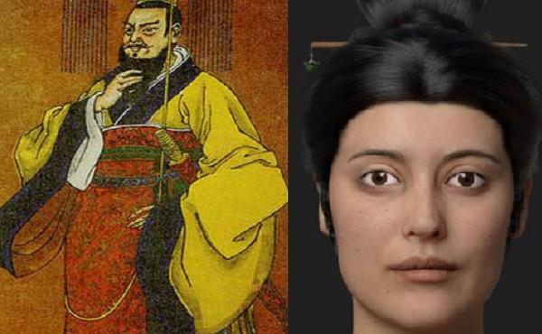 Bức chân dung khuôn mặt được tái tạo của một cô gái được cho là ái phi của Tần Thủy Hoàng.
