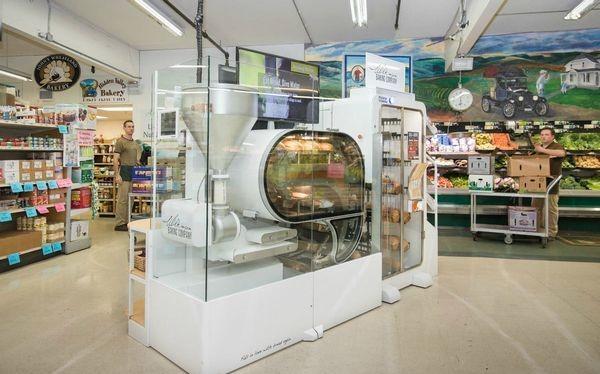 Breadbot - tiệm bánh mì robot hoàn toàn tự động.