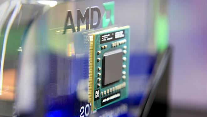 Chip máy tính AMD-A10-4600M Series APU. ẢNH: BLOOMBERG