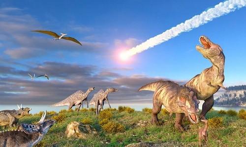 Thiên thạch mang iridi tới Trái Đất khiến khủng long tuyệt chủng cách đây 66 triệu năm. Ảnh: Science Photo Library.