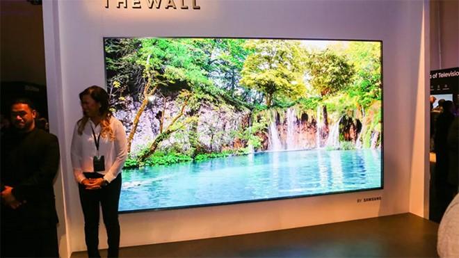 """Tivi """"The Wall"""" của Samsung tại CES 2019. ẢNH CHỤP MÀN HÌNH CNET"""