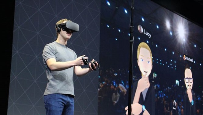 CEO Facebook Mark Zuckerberg tại một sự kiện về Oculus. ẢNH: AFP